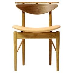Finn Juhl Reading Chair, Oak Walnut Vegetal Nature