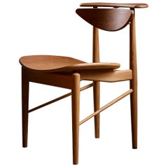 Finn Juhl Reading Chair Veneer Seat Walnut Teak