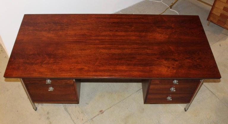 Mid-Century Modern Finn Juhl Rosewood Executive Desk For Sale
