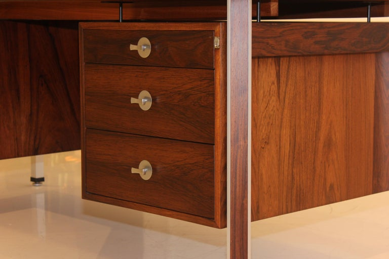 Finn Juhl Rosewood Executive Desk For Sale 5