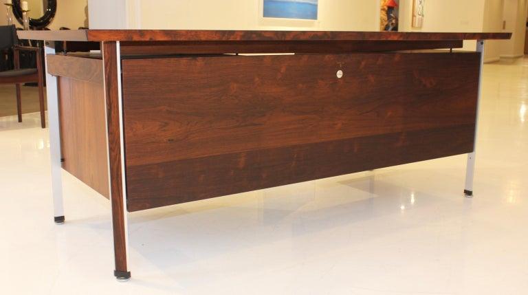 Finn Juhl Rosewood Executive Desk For Sale 10