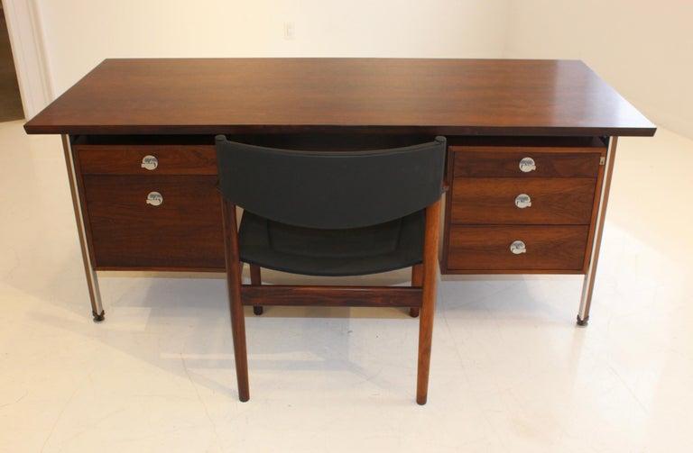 Finn Juhl Rosewood Executive Desk For Sale 13