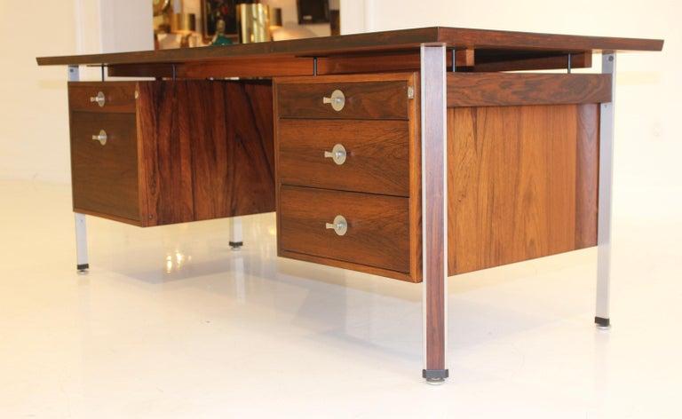 Finn Juhl Rosewood Executive Desk For Sale 1