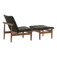 Finn Juhl Set Japan Series Chair and Footstool
