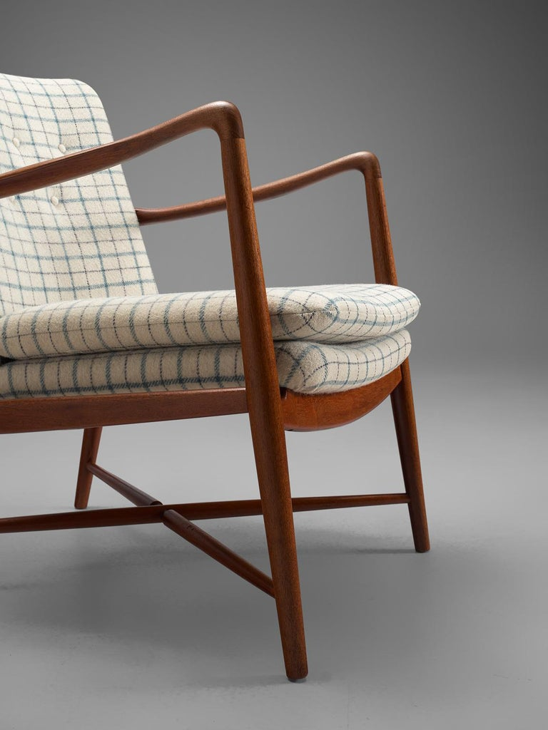 Fabric Finn Juhl Set of 'Westermanns' Fireplace Chairs in Teak For Sale