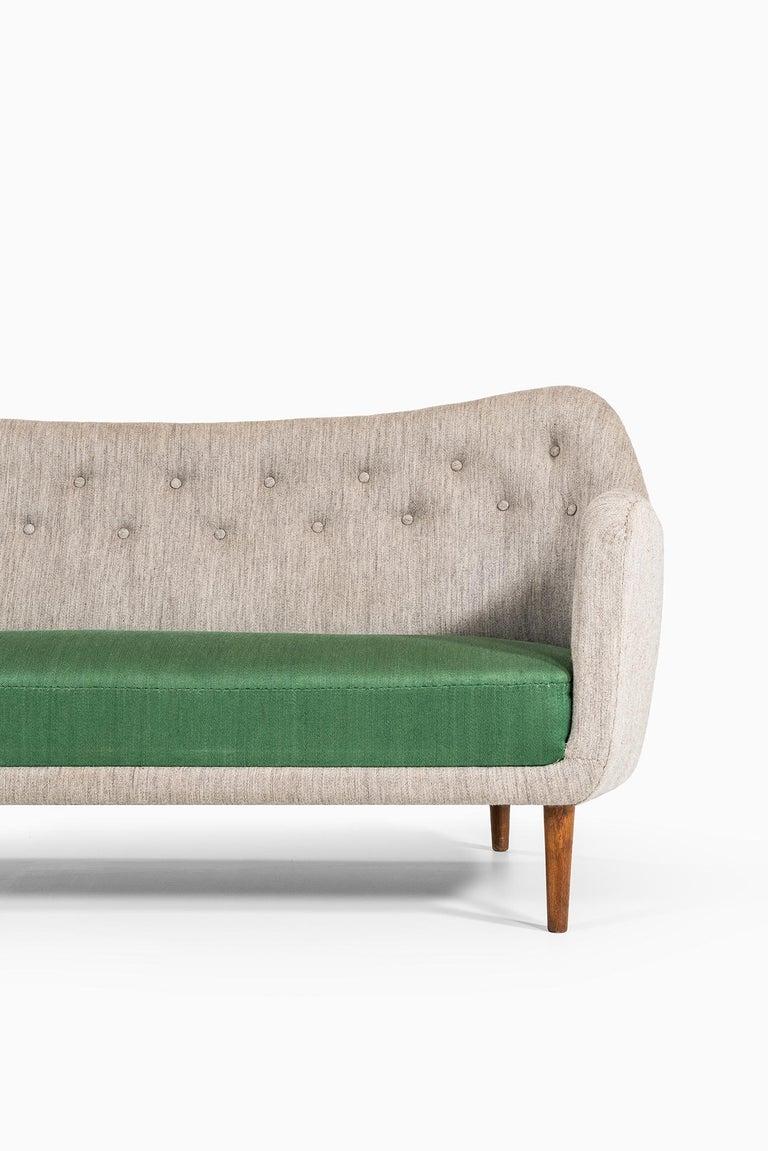 Rare sofa model BO64 designed by Finn Juhl. Produced by Bovirke in Denmark.