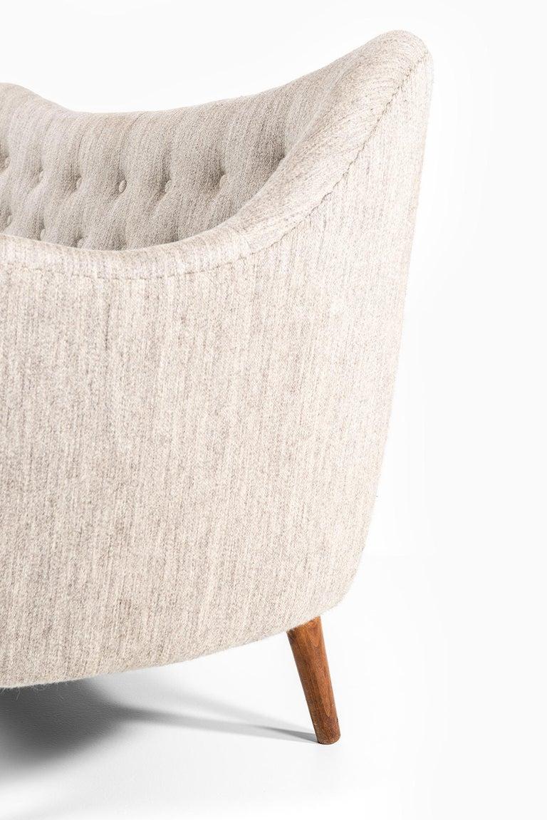 Fabric Finn Juhl Sofa Model Bo64 by Bovirke in Denmark For Sale
