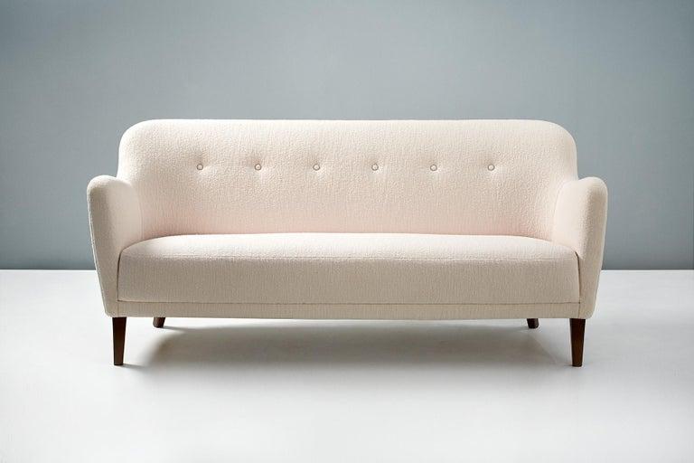 Scandinavian Modern Finn Juhl Style Sofa, circa 1940s For Sale