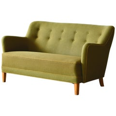 Finn Juhl Style Sofa or Loveseat by Slagelse Mobelvaerk, 1940s