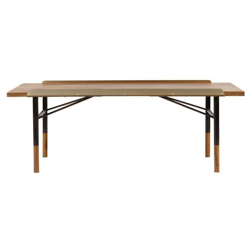 Finn Juhl Table Bench Wood and Brass