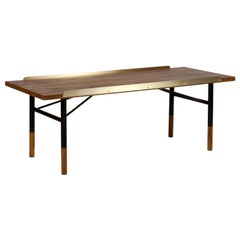 Finn Juhl Table Bench, Wood and Brass