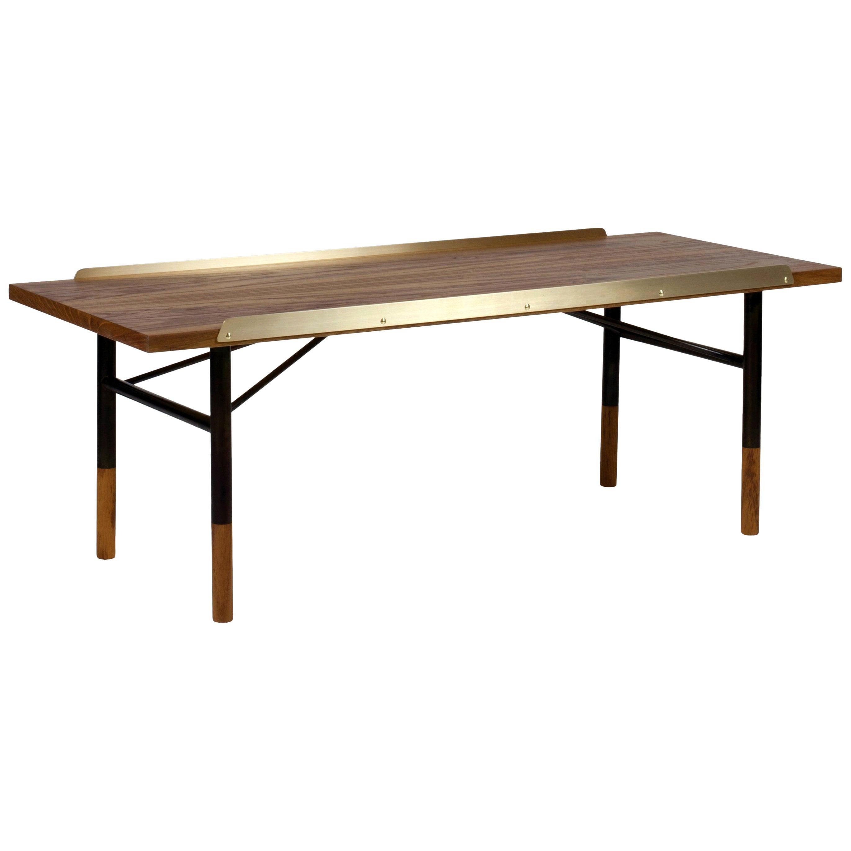 Finn Juhl Table Bench, Wood and Brass