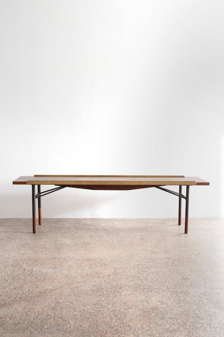 Scandinavian Modern Finn Juhl Teak Bench for Bovirke, 1953 For Sale