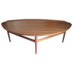 Finn Juhl, Teak Coffee Cocktail Table by Baker Label