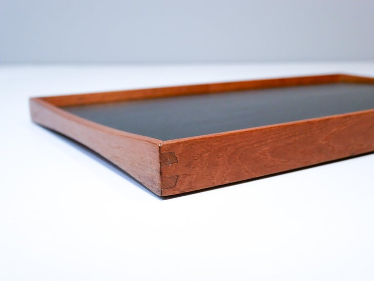 Finn Juhl reversebla tray for Torben Orskov, circa 1950s.  With black / red formica, note marked