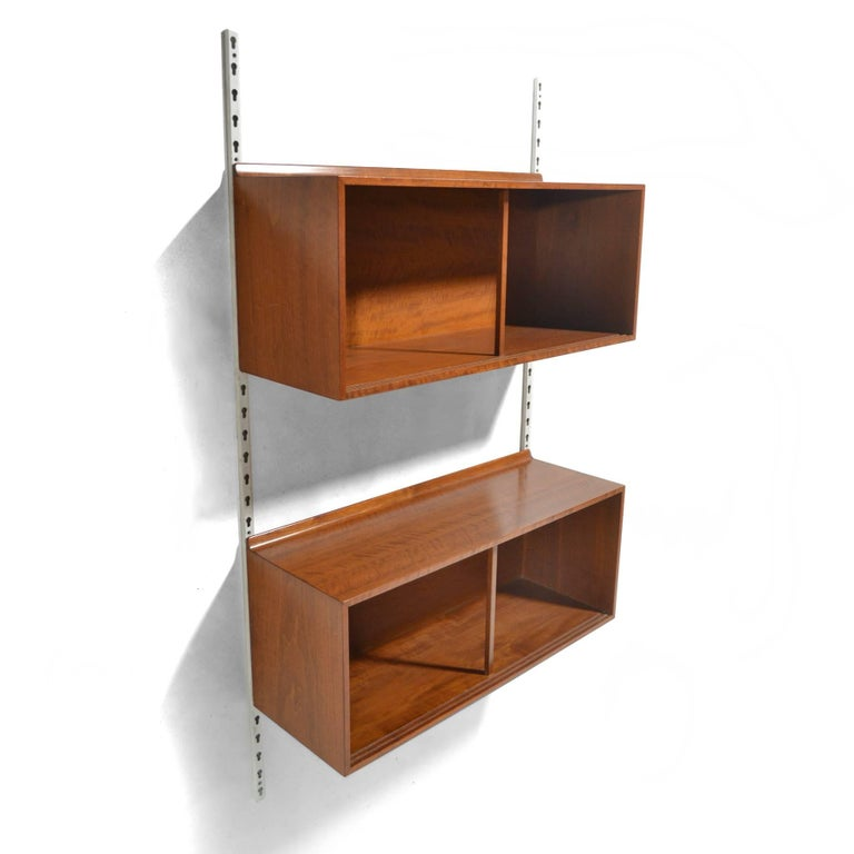 Finn Juhl Wall-Mounted Cabinets by Baker In Good Condition For Sale In Highland, IN