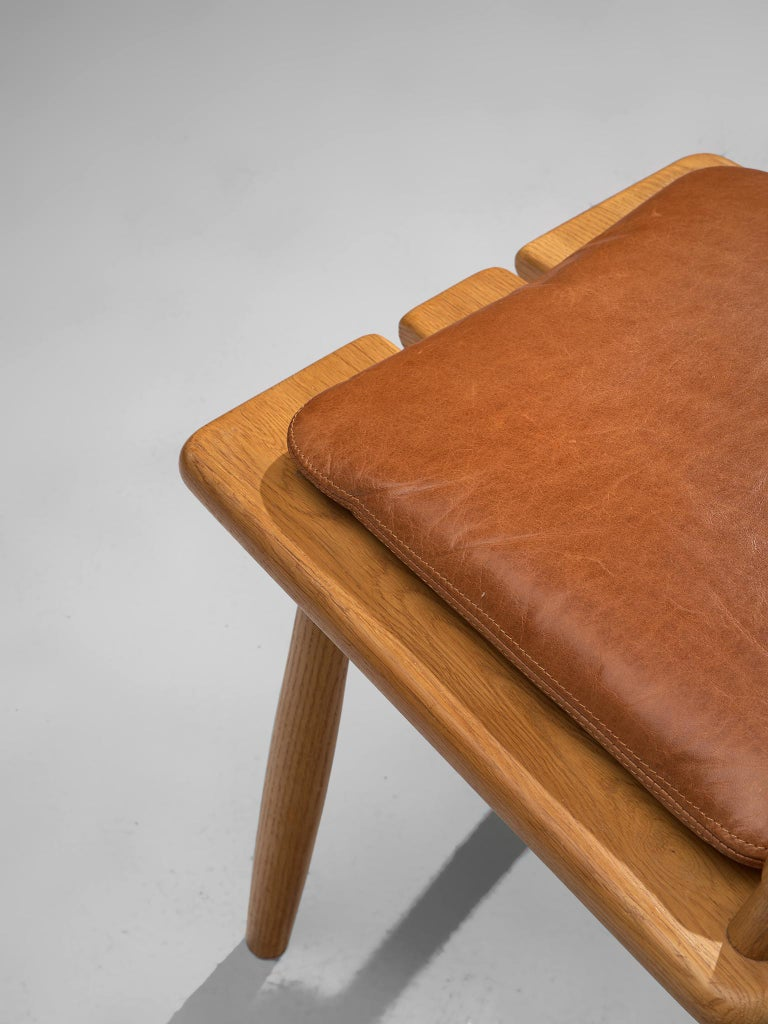 Finnish Dining Chairs in Oak with Leather Cushions For Sale 5