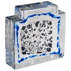 Finnish Glass Block Sculpture by Erkkitapio Siiroinen for Riihimaki Lasi Oy