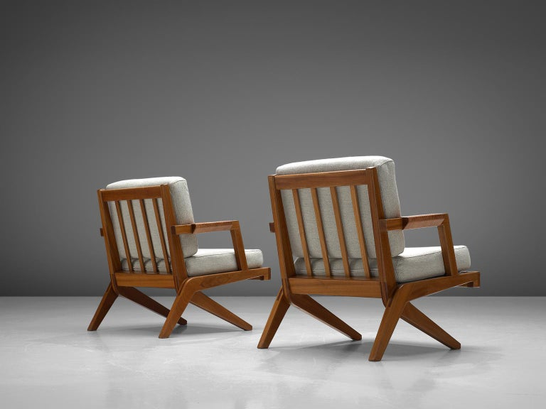Scandinavian Modern Finnish Pair of Armchairs by Olavi Hänninen For Sale