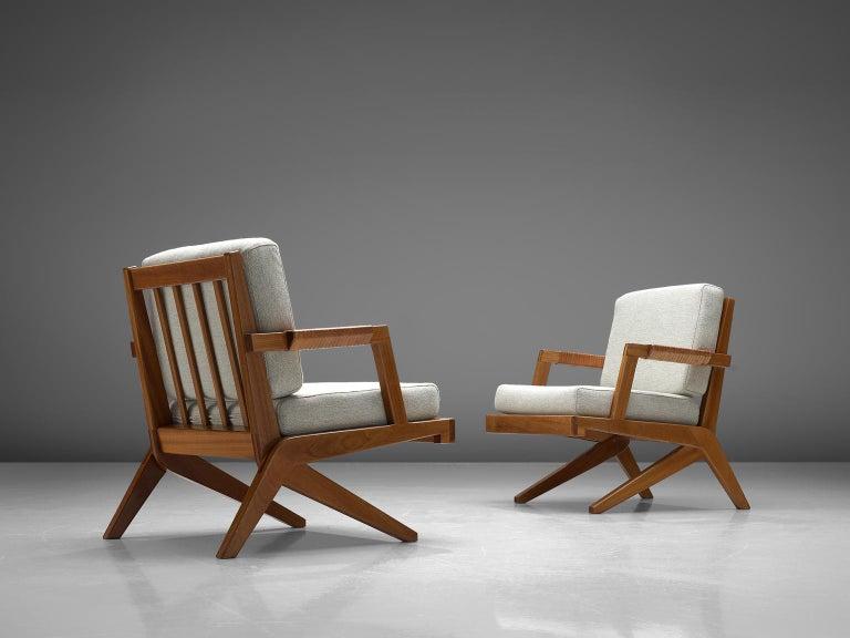 Mid-20th Century Finnish Pair of Armchairs by Olavi Hänninen For Sale