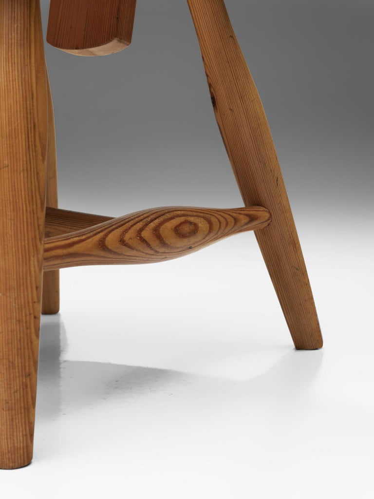 Finnish Set of Six Dining Chairs in Solid Pine by Eero Aarnio For Sale 5