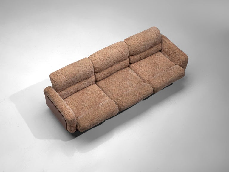Mid-20th Century Finnish Sofa in Teak and Patterned Upholstery For Sale