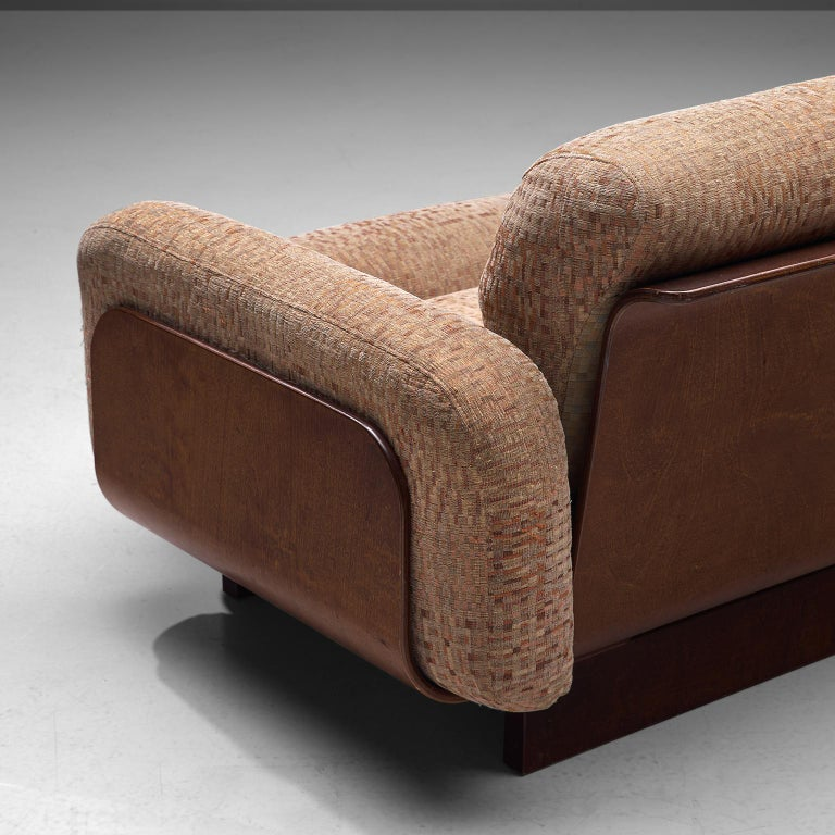 Finnish Sofa in Teak and Patterned Upholstery For Sale 3