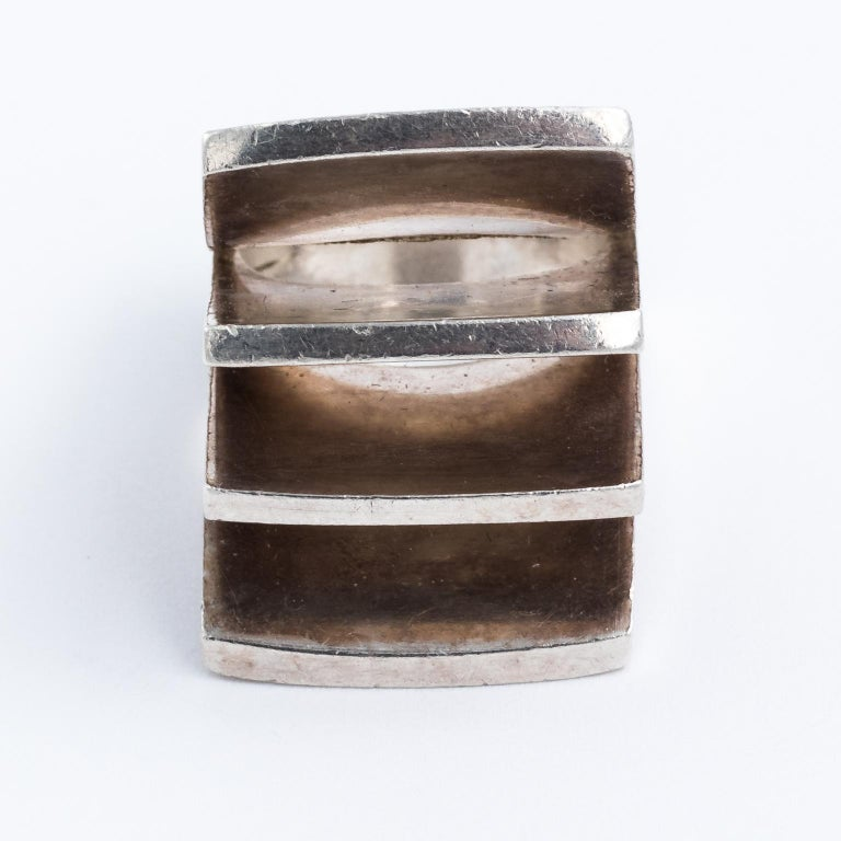 Women's Sterling silver finnish ring For Sale