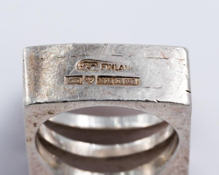 Sterling silver finnish ring For Sale 1