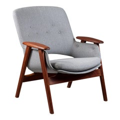 Finnish Teak Wood Mid-Century Modern Armchair by Olof Ottelin for Stockmann Oy