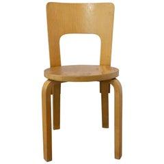 Finnish Vintage Wood Chair Alvo Aarto Model 66, circa 1930
