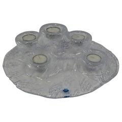 Finnish Volcano Tulivuori Glass Candleholder by Pertti Kallioinen for Meri Lass
