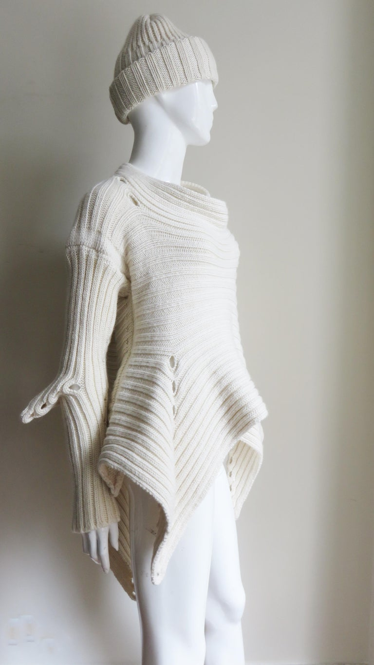 Fintan Mulhollnd Irish Hand Knit Sweater and Touque For Sale 7