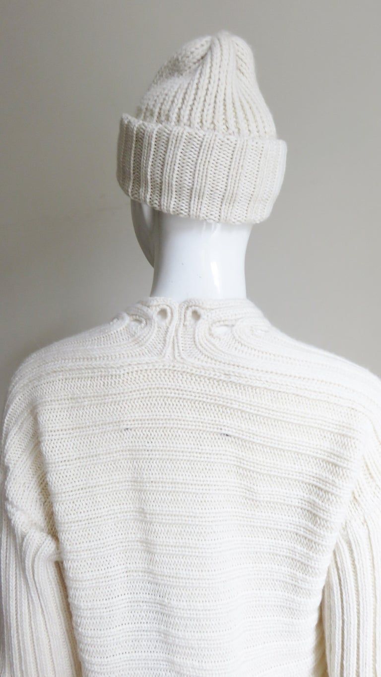 Fintan Mulhollnd Irish Hand Knit Sweater and Touque For Sale 10