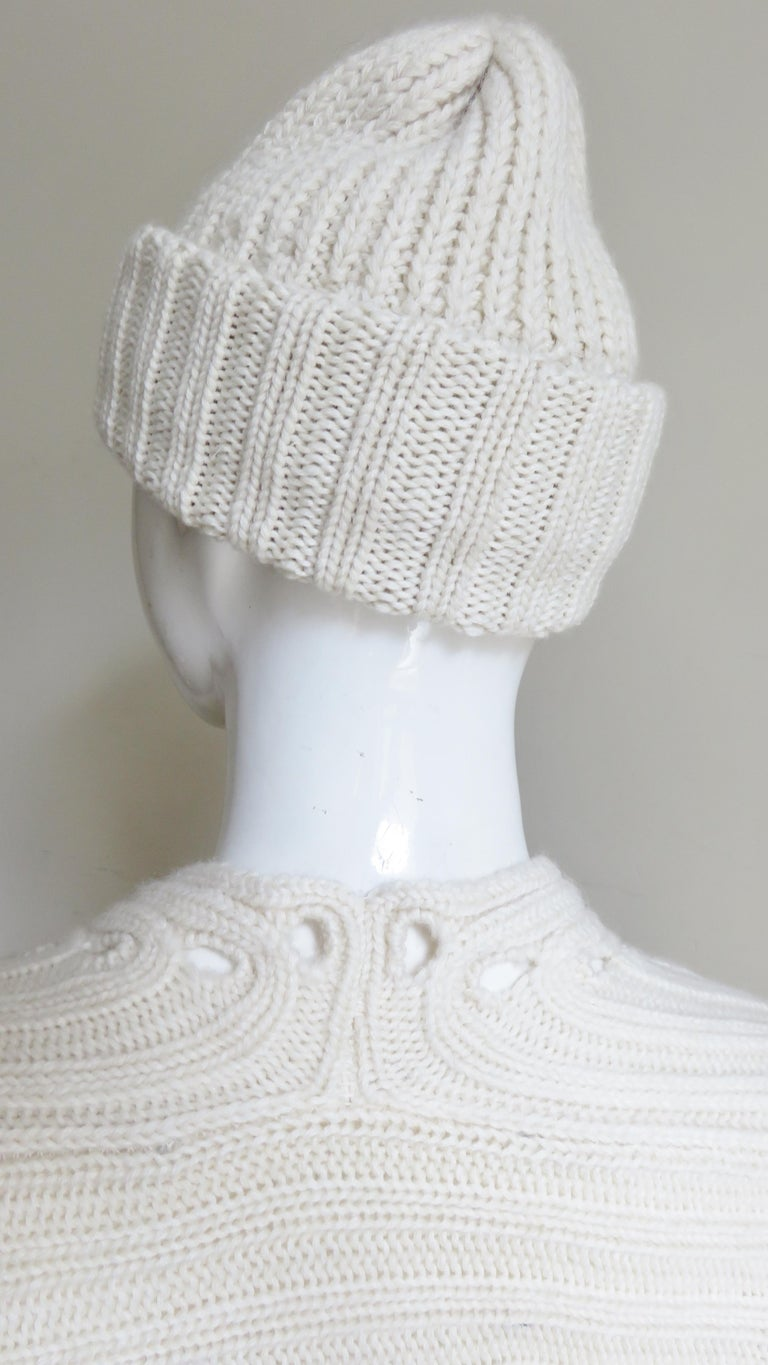 Fintan Mulhollnd Irish Hand Knit Sweater and Touque For Sale 11