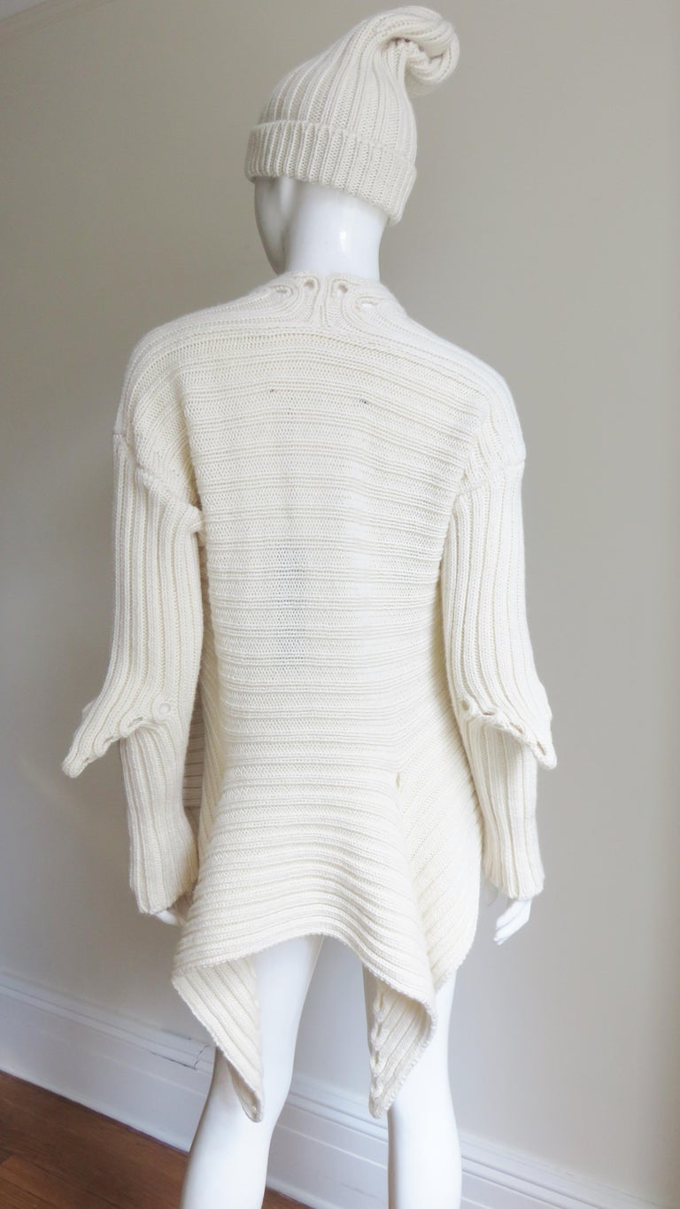 Fintan Mulhollnd Irish Hand Knit Sweater and Touque For Sale 12