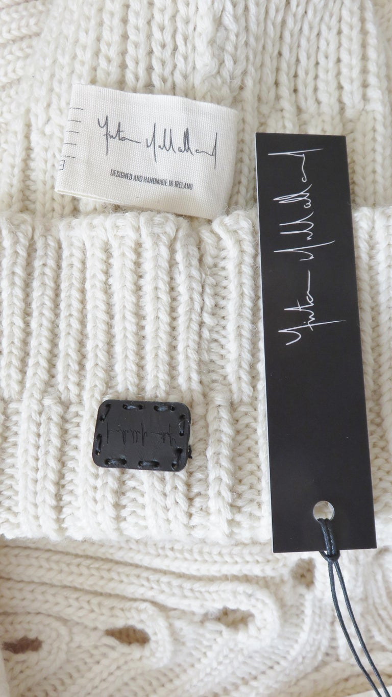 Fintan Mulhollnd Irish Hand Knit Sweater and Touque For Sale 14
