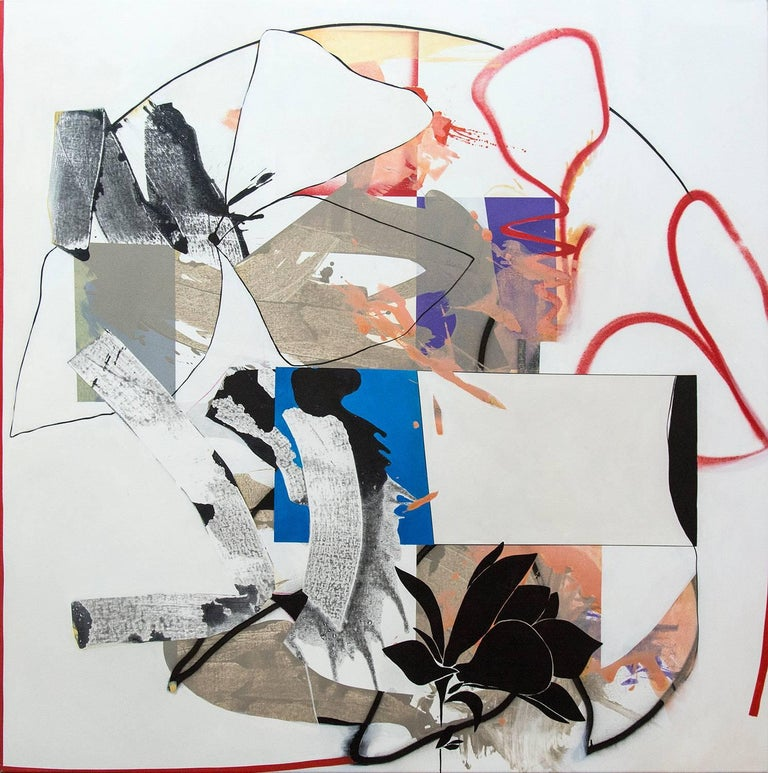 Fiona Ackerman Abstract Painting - A World in Translation - A narrative of color, texture and pattern