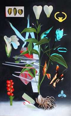 Under Garden, Contemporary, Abstract, Floral Painting