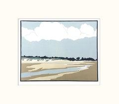 Fiona Carver, The Long Beach, Holkham, Seascape Art, Affordable Art