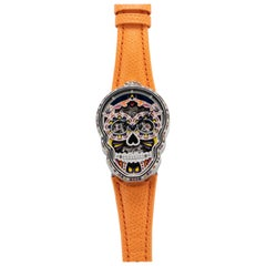 Fiona Kruger Petit Skull 'Celebration' Eternity Watch with Original Boxes