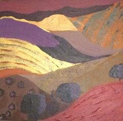 Intimate landscape - 21st Century, Expressionist, Landscape Painting, Wood Panel