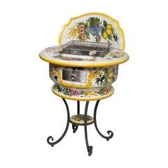 Fiore Ceramic Barbeque by Manetti e Masini