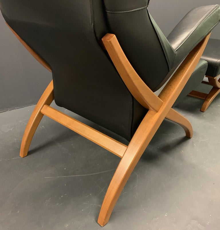 Fiorenza Armchair and Stool by Franco Albini for Arflex In Excellent Condition For Sale In Munich, DE