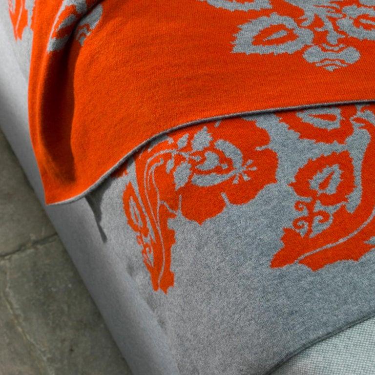 Modern Fiori Chiari Cashmere Blanket by Midsummer Milano For Sale