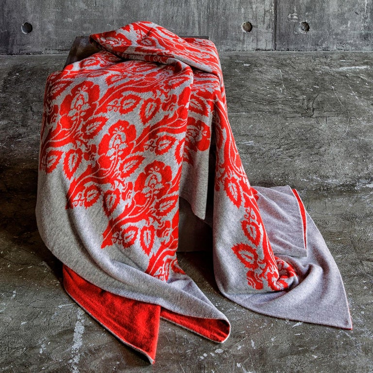 Italian Fiori Chiari Cashmere Blanket by Midsummer Milano For Sale