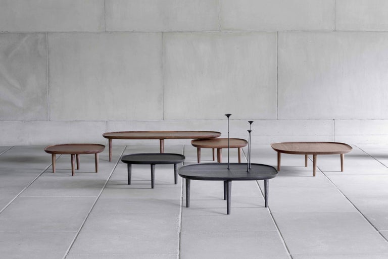 Woodwork Fiori Table 65, Dark Oak For Sale