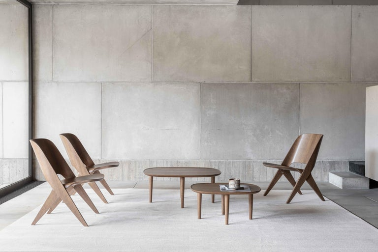 Scandinavian Modern Fiori Table 65, Dark Oak For Sale