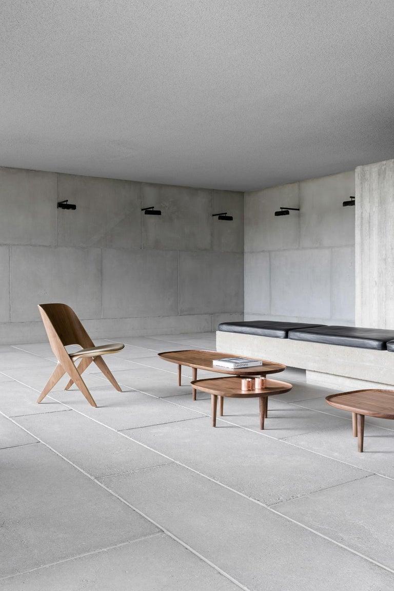 Contemporary Fiori Table 65, Dark Oak For Sale