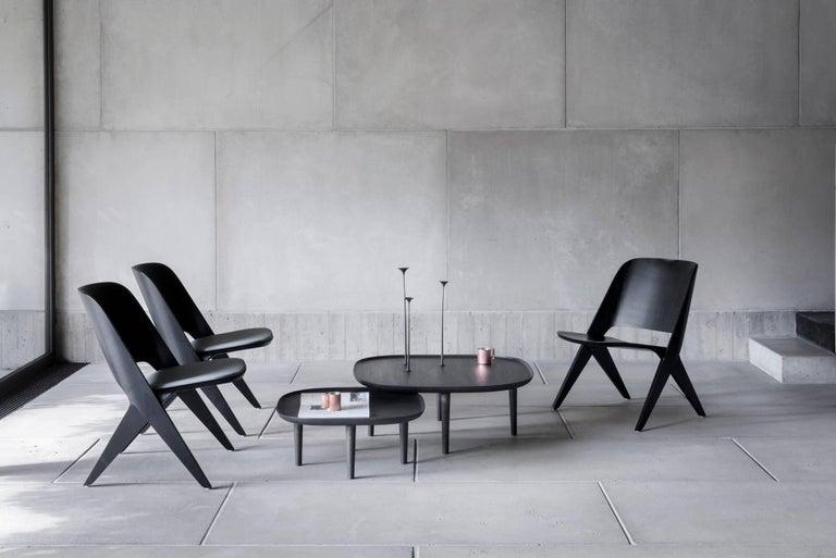 Woodwork Fiori Table 85, Black For Sale